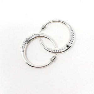 Silver Round Earings